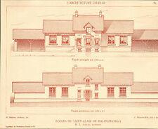 61 SAINT-CLAIR DE HALOUZE ECOLES ARCHITECTE AMIARD IMAGE 1917/20