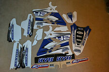 FLU TEAM GRAPHICS & BLACK  BACKGROUNDS YAMAHA YZ125 YZ250 2002-2014   #3009