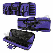 "VISM NcSTAR Tactical 36"" Padded Double Carbine Rifle Gun Case Purple w/Blk Trim"