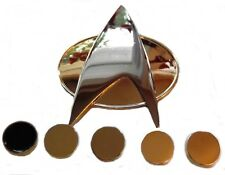 Star Trek TNG Full Size COMMUNICATOR Pin and Set of 5 Officer Rank PIPS