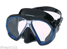 Atomic SubFrame Dive Mask for FreeDiving Scuba Snorkeling Black/Blue