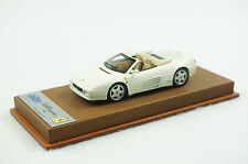 1/43 BBR FERRARI 348 SPIDER GLOSS WHITE ON BROWN LEATHER BASE LIMITED 15 PCS MR