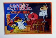 "SECRET SQUIRREL and Morocco Mole Metal LUNCHBOX   2"" x 3"" Fridge MAGNET ART"