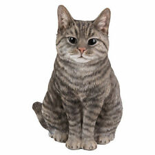 BRAND NEW SITTING TABBY CAT GARDEN ORNAMENT