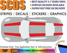 Car stickers Stripes Decals Premium Quality Vinyl Fits Porsche TOP  #07