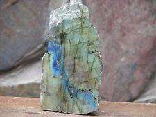 Labradorite Crystal, Labradorescence features, Half Polished, Half Raw