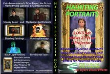 HAUNTING PORTRAITS and Giant Spiders Halloween Video Projection DVDs