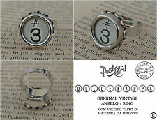 MODERNIST VINTAGE ANELLO  -  OLD KEY OF TYPEWRITER RING - RECYCLED