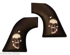 Custom Ruger Broken Skull Grips OLD Model Vaquero Blackhawk XR3-RED Revolvers