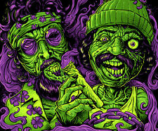 "3"" Funny Zombie Cheech and Chong STICKER. Marijuana. Good for your bong or pipe."