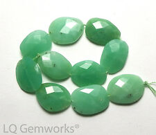 10 pcs.. CHRYSOPRASE 12-14mm Faceted Oval Beads NATURAL /O6