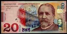 GEORGIA  -  20  LARI  2016   -  P NEW   Uncirculated Banknotes