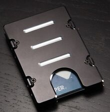 Billet Vault Aluminum Wallet, RFID Protection, Black Anodized, Standard, Black