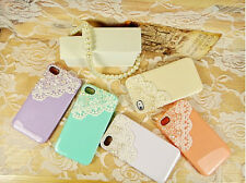 Pearl Lace Flower Cover Skin Case for I phone4 4s