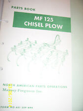 VINTAGE MASSEY FERGUSON  PARTS MANUAL -# 125 CHISEL PLOW