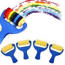 4Pcs/Set Sponge Paint Brushes Roller Stippler Dabber For Kids Creative Painting