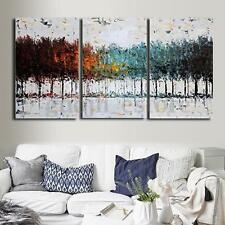 Unframed Colorful Tree Abstract Canvas Painting Print Art Wall Home Decoration