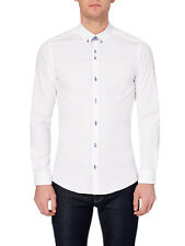 "Remus UOMO Slim Small Collar Shirt/White - Medium (15.5"") SRP £55.00"