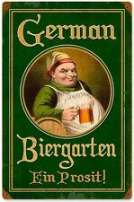 Retro Vintage German Beer Garden Metal Sign Tourism Advertise Wall Decor 326
