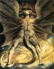 William Blake: The Great Red Dragon and The Woman: Fine Art Print On Canvas