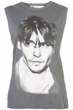 Topshop Rare Johnny Depp Tee and Cake Vest Top BNWT UK 8 US 4 Tank Sleeveless
