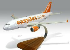 Airbus A319 Easyjet Wood Desktop Airplane Model