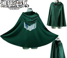 Attack on Titan Shingeki no Kyojin Scouting Legion Cloak Cape Cosplay Eren