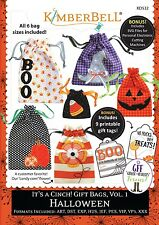 KIMBERBELL It's a Cinch Gift Bags Vol 1 Halloween Machine Embroidery CD NEW