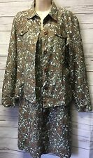 New! Chadwicks Of Boston Women's M 10 Linen Blend Dress and Jacket 2 Pc Set
