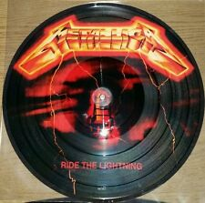 METALLICA RIDE THE LIGHTNING, 180 GRAM PICTURE DISC VINYL LP RECORD NEW IMPORT