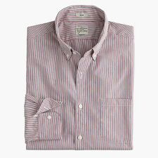 J. Crew - XL - NWT $79 - Slim Fit Chimney Striped Secret Wash Shirt