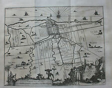 Original antique map BATAVIA (JAKARTA) INDONESIA, Nieuhof/Churchill /Moll, 1744