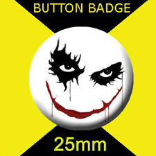 BATMAN JOKER SMILE  -   CULT TV -  BUTTON BADGE 25mm