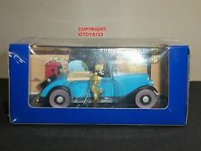 TINTIN NO.68 BOOK COMIC BLUE LOTUS DIECAST MODEL BLUE CAR + FIGURE