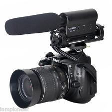 Camera Video Shotgun MIC Microphone Speaker for Nikon Canon DSLR DV Camcorder US