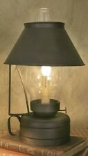 Electric Livery Stable Lantern Lamp with Hand Blown Chimney - Colonial Lamp