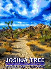 Joshua Tree Park California 2 United States America Travel Advertisement Poster