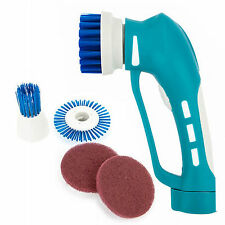 HUSTORM HS-300 Auto Spin Electric Brush Cleaner Handheld For Bathroom + 4 Heads