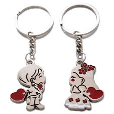 Loving Heart Keychain, Fashion Metal Couples Key Ring for Lover AD