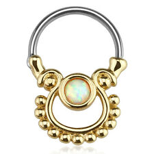 Piercing Opal imitacion tabique anillo vintage tribal piercing nariz Helix piercing