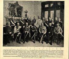 Offiziere nichtpreussische Regimenter deren Chef Kaiser Wilhelm II. ist c.1900