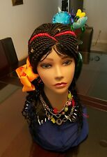 """Summer Simply Gorgeous  Cornrow Wig Braids  #1b & Red  14"""" to 16"""""""