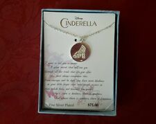 NEW LA Rocks Disney Cinderella movie glass slipper silver plated necklace pendan