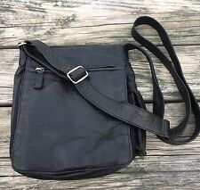 Osgoode Marley Black Cross Body Organizer Messenger Purse Bag
