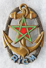 INSIGNE TROUPES COLONIALES OU DE MARINE - Régt Inf. Coloniale du MAROC - N° 02