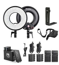 FalconEyes DVR-300DVC LED Video Ring Light + Battery + Battery Holder + Diffuser