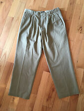 Dockers D4 Relaxed Fit Brushed Cotton True Chino Khaki Pleated Pants 34x29