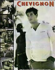Publicité 1998  CHEVIGNON  vetement chaussure collection mode ...