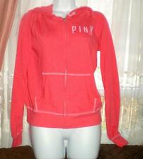 Victoria's Secret PINK LIGHT WGT RED HOODIE P I N K ON FRONT BACK PLAIN S NWT