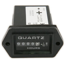 Quartz DC 12V-36V Tech Rectangular Hour Meter Timer for Boat Car Truck Tractor
